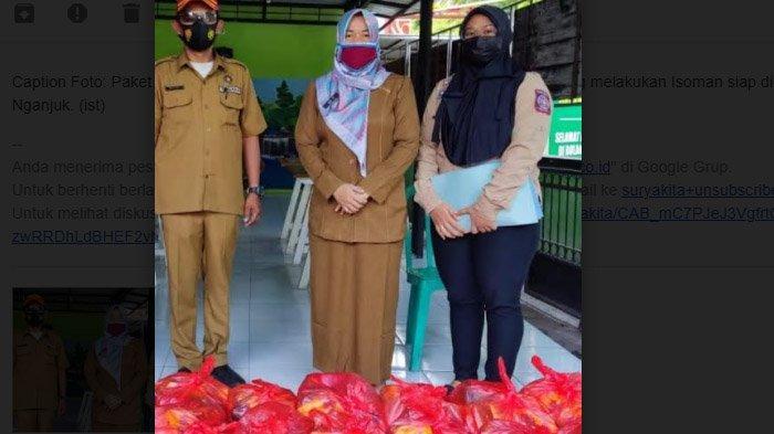 Dinsos PPA Nganjuk Kucurkan 150 Paket Bansos untuk Warga Isoman di 4 Kecamatan