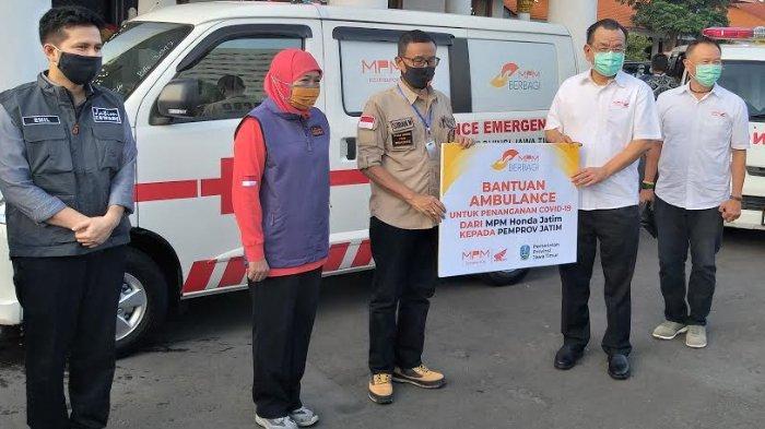 MPM Honda Jatim Salurkan Bantuan Senilai Rp 3,1 Miliar Kepada Pemprov Jatim