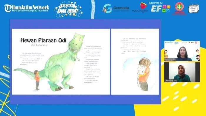 Festival Anak Hebat dalam Rangka Hari Anak Nasional: Barbara Eni Ajak Anak Tulis Pengalaman Sendiri