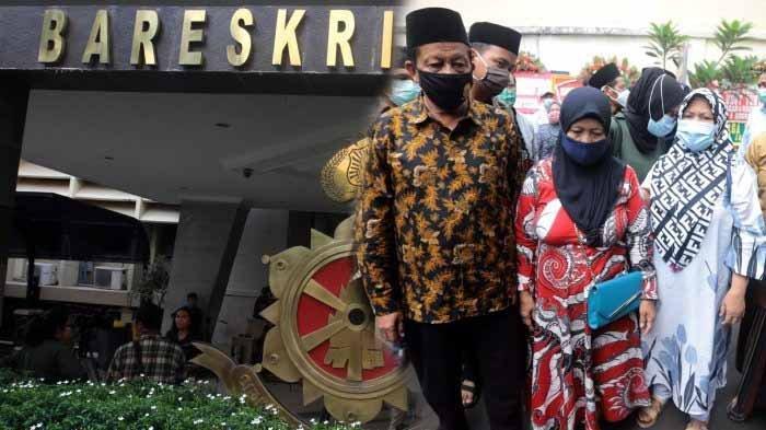 Gedung Bareskrim Mabes Polri. Foto kanan : Keluarga dari 6 Laskar FPI pengawal Habib Rizieq yang tewas didampingi pengacara mendatangi Komnas HAM, di Jakarta Pusat, Senin (21/12/2020). Kedatangan mereka untuk menyerahkan bukti yang dikumpulkan FPI atas kasus penembakan 6 laskar di Km 50 Tol Jakarta-Cikampek.