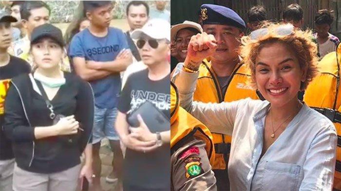 Beda Gaya Ayu Ting Ting dan Nikita Mirzani Terjun ke Lokasi Banjir, Anies Baswedan Disebut-sebut