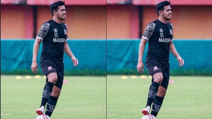 Bek Madura United Novan Setya Sasongko Tetap Berlatih Mandiri dengan Prokes Ketat saat Tim Libur