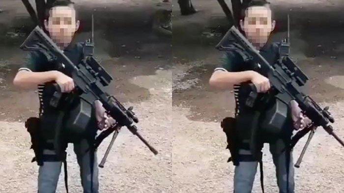 Beredar Video Bocah 7 Tahun Tenteng Senjata Laras Panjang Sambil Mengancam, Identitasnya Tak Terduga