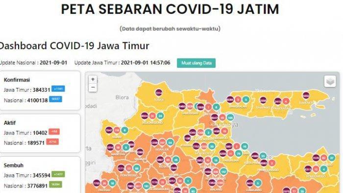 Update Virus Corona Surabaya 1 September 2021 Tambah 110 Kasus & Persiapan Sekolah Tatap Muka