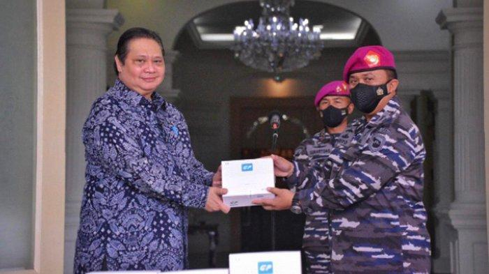 Menko Airlangga Hartarto Temui Mayjen (Mar) Suhartono, Apresiasi Dedikasi TNI dalam Tangani COVID-19
