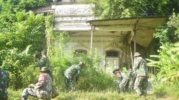 Koramil Babat Lamongan Rawat Bangunan Peninggalan Belanda yang Tak Terawat dan Terbengkelai