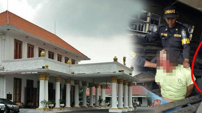 Heboh di depan Gedung Grahadi Surabaya, Ada Pria Tiba-tiba Lakukan Ini . . .