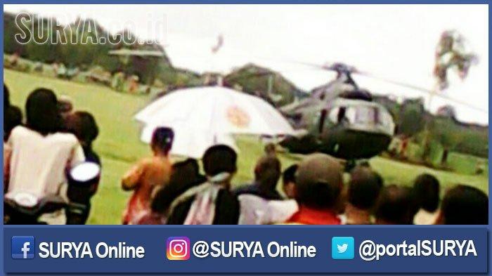 Helikopter TNI AD Tiba-tiba Menukik dan Mendarat Darurat di Ngawi, Ini Penyebabnya