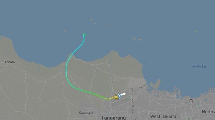 Jalur terbang pesawat Sriwijaya Air SJ182 sampai kemudian dinyatakan hilang kontak