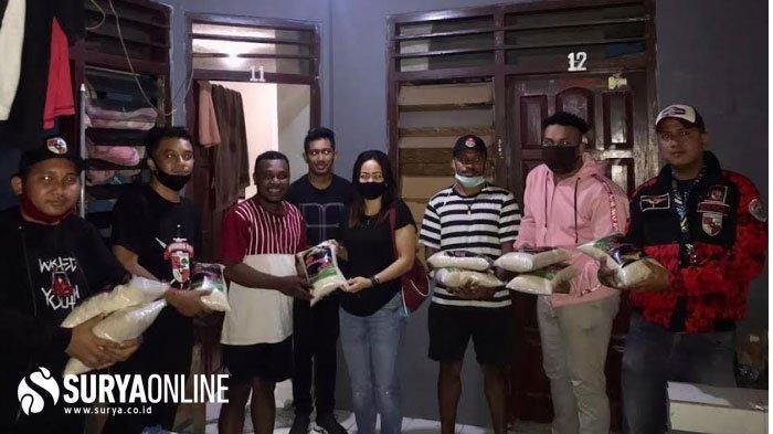 SAPMA Pemuda Pancasila Jawa Timur Bagikan Ratusan kilogram Beras