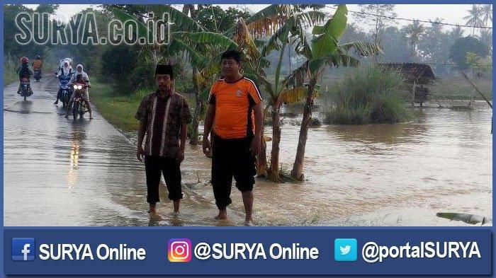 Dua Hari Sumenep Diguyur Hujan Lebat,  Puluhan Hektar Sawah dan Rumah Terendam Banjir