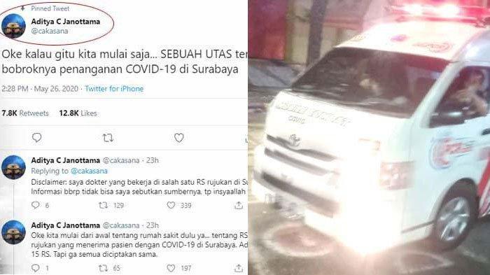 BERITA Surabaya Hari ini Populer: Viral Kritik Penanganan COVID-19 dan 3 Mobil Gelar Rapid-Swab Test