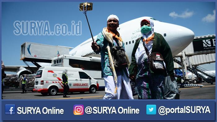 Dini Hari Nanti Kloter Pertama Haji Surabaya Landing di Bandara Juanda, Diawali Jemaah Situbondo