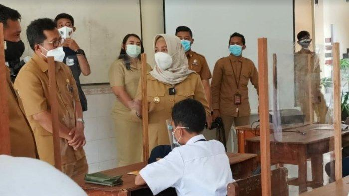 Walikota Mojokerto Ning Ita Sidak PTM Perdana di Sekolah SDN dan SMPN, Ini Hasilnya