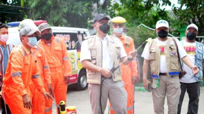 BHS Gelar Penyemprotan Disinfektan di Perkampungan Warga Sidoarjo