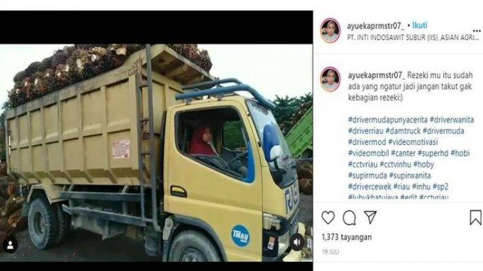 Biodata Ayu Eka Pramestari, Sopir Truk Pengangkut Sawit yang Viral, Cinta Dunia Otomotif Sejak SMP