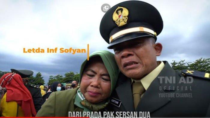 Letda Sofyan menangis saat Dilantik Jenderal Andika Perkasa Jadi Perwira TNI AD. Dulunya cuma ajudan. Profil dan biodatanya ada di artikel ini