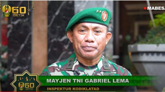 Biodata Mayjen TNI Gabriel, Jenderal Andika Perkasa Naikkan Pangkatnya dan Dapat Jabatan Penting
