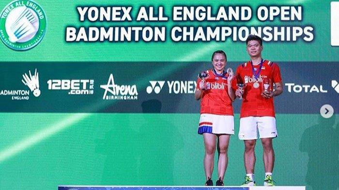 Praveen Jordan & Melati Daeva Oktavianti, saat menjadi juara Ganda Campuran All England Open 2020 silam.