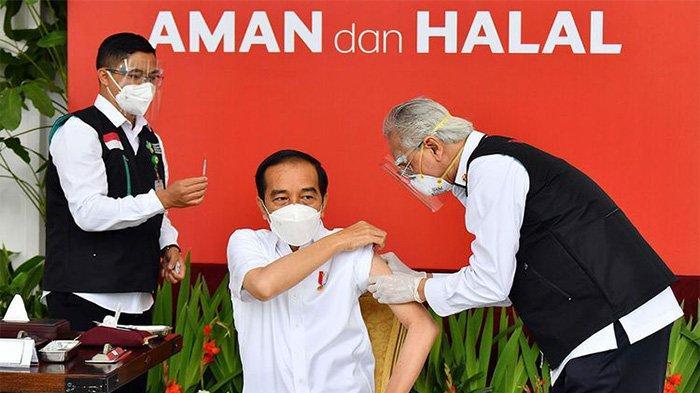 Setelah 2 Jam, Badan Presiden Jokowi Rasakan Efek Vaksin Sinovac, Tubuhnya Mulai Mengalami Ini
