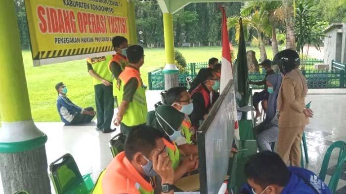 Pelanggar Prokes di Bondowoso Menurun, Satgas Covid-19 Tetap Gencar Operasi Yustisi