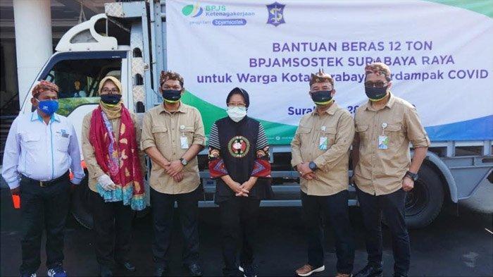 BPJAMSOSTEK se-Surabaya Raya Salurkan Bantuan 12 Ton Beras untuk Warga Terdampak Covid-19