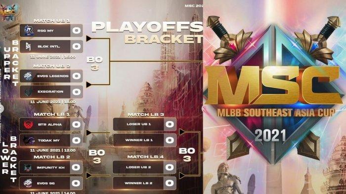 Bracket Playoff MSC 2021: Jadwal dan Daftar Tim Lolos, EVOS Legends dan BTR Alpha di Jalur Berbeda