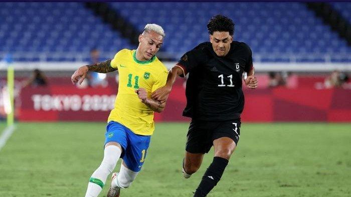 Hasil Olimpiade Tokyo, Brasil vs Jerman 4- 2, Richarlison Borong 3 Gol, Spanyol vs Mesir 0 - 0