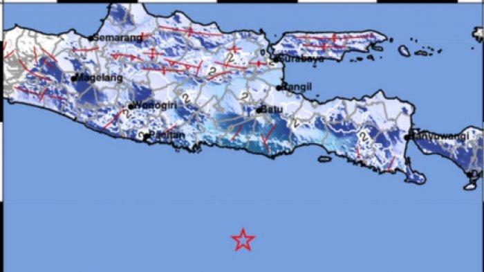 BREAKING NEWS Gempa di Blitar Jawa Timur Hari Ini 7 April 2020 Terasa Hingga Malang dan Trenggalek
