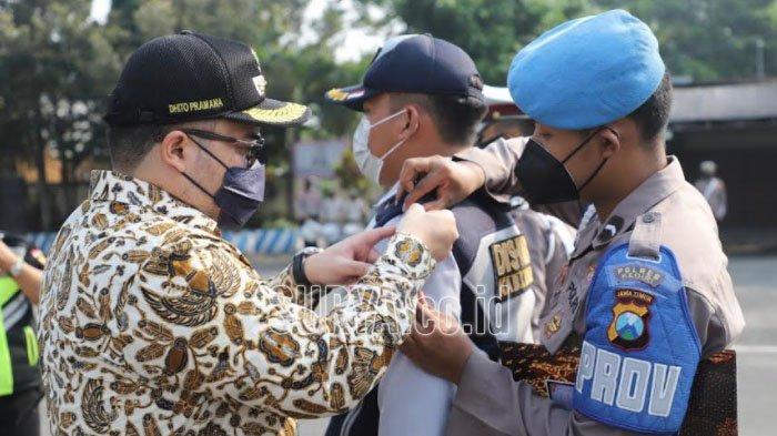 Bupati Kediri Pimpin Apel Gelar Pasukan Operasi Ketupat 2021, Sosialisasikan Larangan Mudik