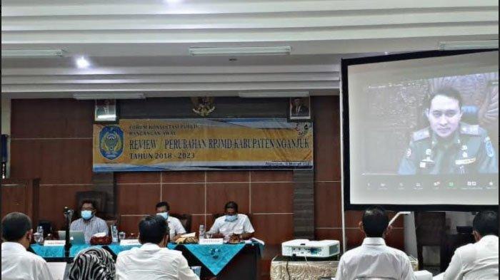 Masa Pandemi, Konsultasi Publik Perubahan RPJMD Kabupaten Nganjuk Digelar secara Virtual