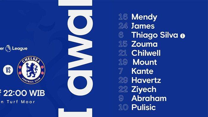 LIVE Sekarang Link Streaming Burnley vs Chelsea: Ziyech & Pulisic Starter, Werner Cadangan