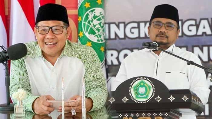 Gus Yaqut disebut dival berat Cak Imin alias Gus Ami. Di tengah kabar tersebut, tersiar 113 DPC PKB sedang menggoyang kursi Cak Imin dari Ketua Umum PKB.