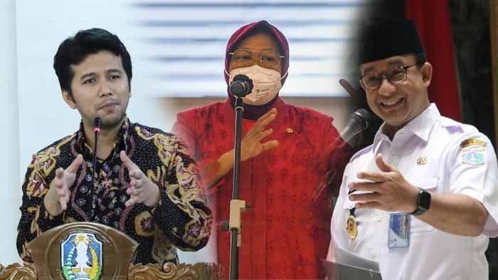 Peluang pertarungan Emil Dardak, Tri Rismaharini dan Anies Baswedan di ilgub DKI Jakarta mendatang.