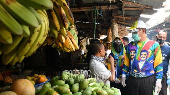 Warga Kompak Doakan Mujiaman Sukirno yang Blusukan ke Pasar Dukuh Kupang Kota Surabaya