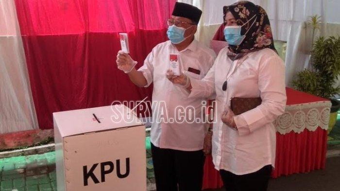 Usai Mencoblos, Calon Wali Kota Santoso Optimistis Menang di Pilwali Blitar 2020