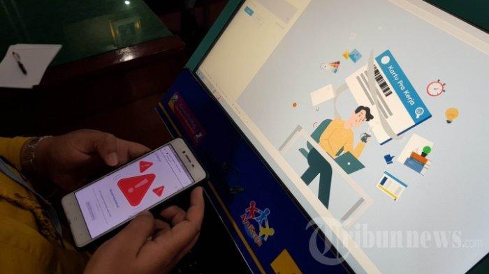 Ilustrasi Pendaftaran Kartu Pra Kerja Gelombang 12.