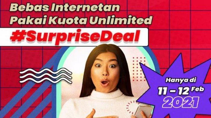 Cara Daftar Paket Internet Murah Telkomsel Unlimited Mulai Rp 100 Ribu, ini Promo #SurpriseDeal