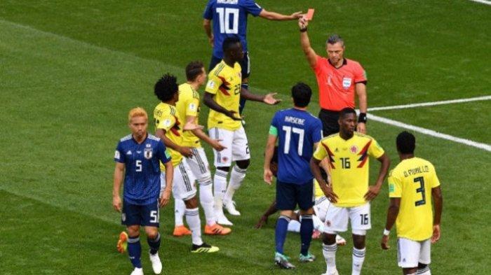 Update Hasil Piala Dunia 2018 Kolombia vs Jepang, Wasit Keluarkan Kartu Merah Pertama
