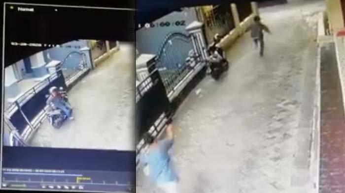 Maling Motor Terekam CCTV di Gubeng, Berhasil Kabur Meski Sempat Dipukul Warga