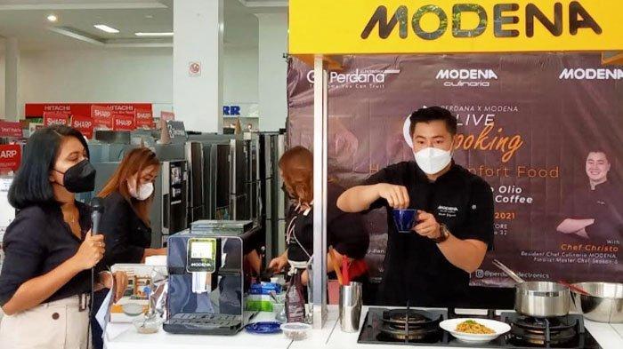 Modena Kenalkan Produk Baru lewat Cooking Demo bersama Chef Christo
