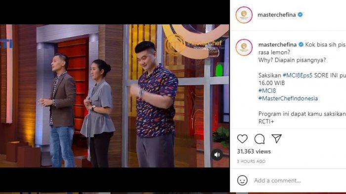 Chef Juna mengomentari hidangan kontestan Masterchef Indonesia 8