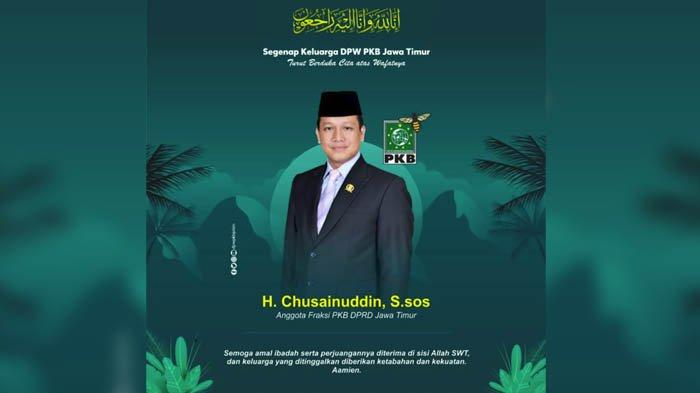 PKB Jatim Berduka, Chusainuddin Meninggal Dunia di RS Mitra Keluarga Waru Sidoarjo