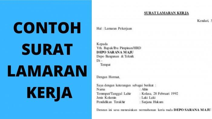 Contoh Surat Lamaran Kerja Bahasa Indonesia dengan Template yang Benar, HRD Benci 10 Kata Ini