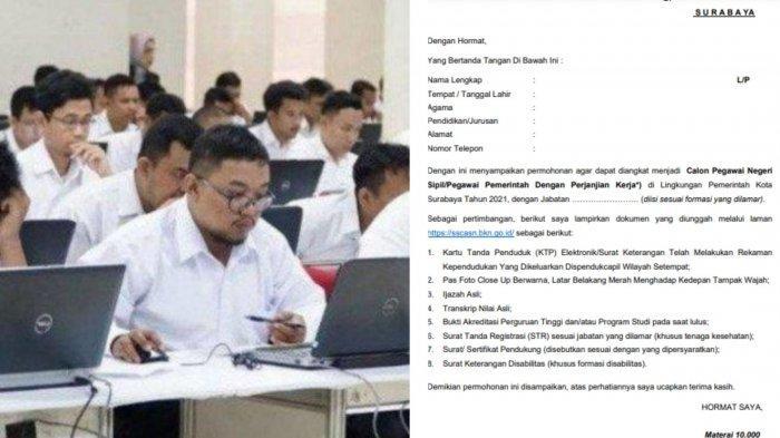 Contoh Surat Pernyataan & Lamaran CPNS 2021 Pemkot ...