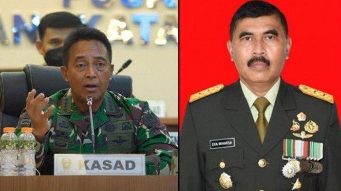 Profil dan Biodata Mayjen TNI Eka Wiharsa Asops Jenderal Andika Perkasa yang akan Segera Pensiun