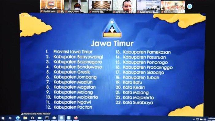 Provinsi dan Kabupaten/Kota Se-Jatim Penerima WTP 5 Kali Berturut-turut Terbanyak Secara Nasional