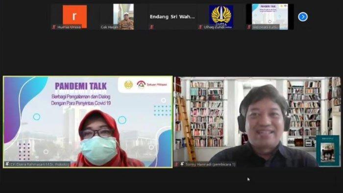 Dukung Target Indonesia Bebas Corona, Unesa Gelar Pandemi Talk Hadirkan Penyintas Covid-19