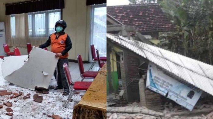Dampak Gempa Malang 6,7 SR: Rumah Warga, Atap RS Hingga Kantor Kecamatan Ambrol