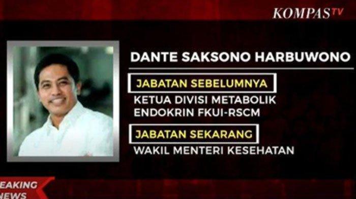 Biodata Dante Saksono Harbuwono: Dokter, Pakar Diabetes Molekuler Lulusan Jepang, Kini Jadi Wamenkes